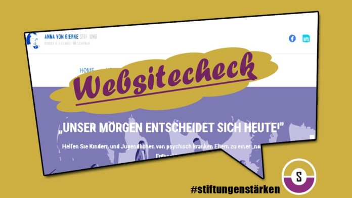 Websitecheck Anna von Gierke Stiftung