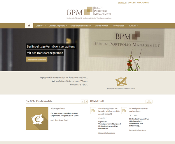 BPM - Berlin Portfolio Management GmbH