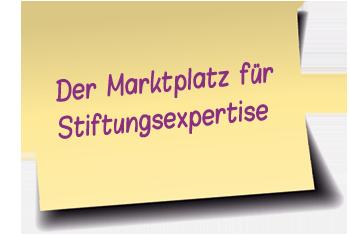 Der Marktplatz für Stiftungsexpertise